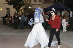 Student dressed up as corpse bride.JPG