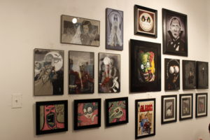 "Art inspired by Tim Burton at ""The Burton Show"""
