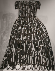 Copper wire poem dress
