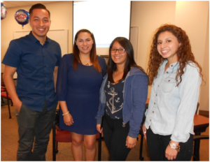 Omar Hernandez with AB540 students