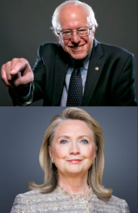 Bernie and Hilary