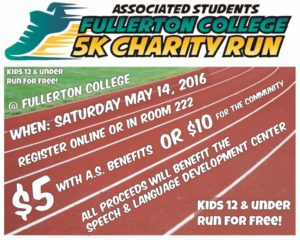 Fullerton 5K Charity Run 2016