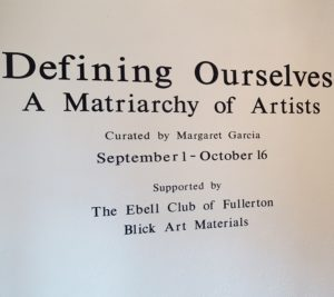 Defining Ourselves: A Matriarchy of Artists