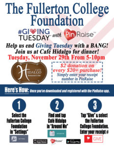 Fullerton College Foundation Flyer