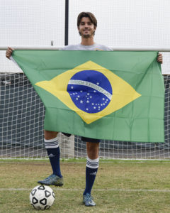 Leo with Brazilian flag