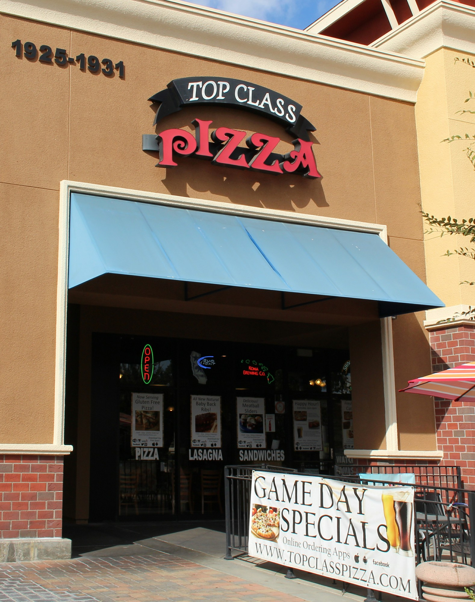 The front of Top Class Pizza Photo credit: Jeff Watson