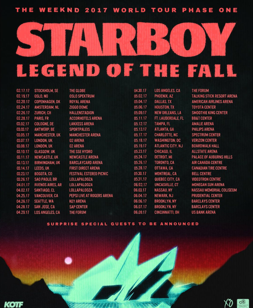 Poster for Legend of the Fall tour