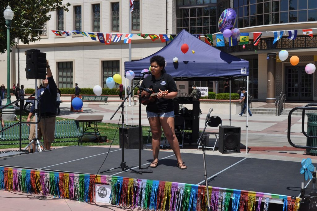 Asia Washington performs at World Fest