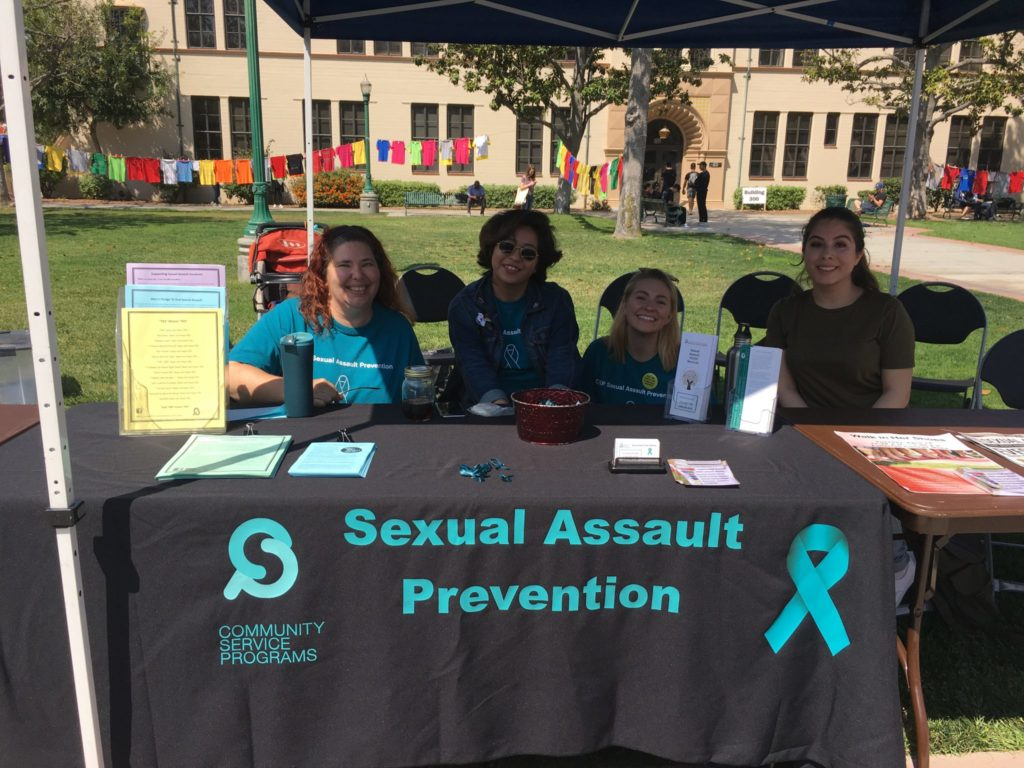 CSP Table at Clothesline Project