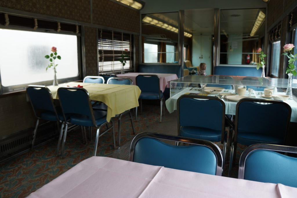 Dinner in a Caboose