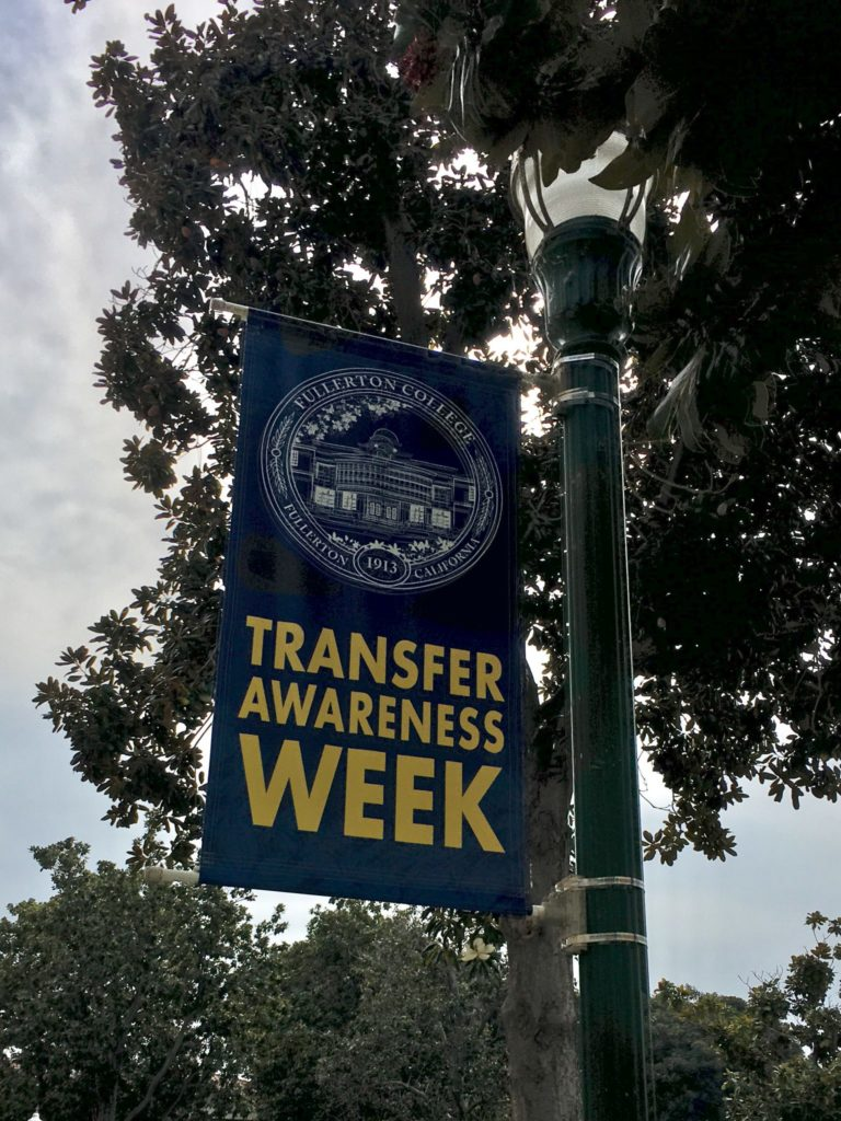 Transfer center sign