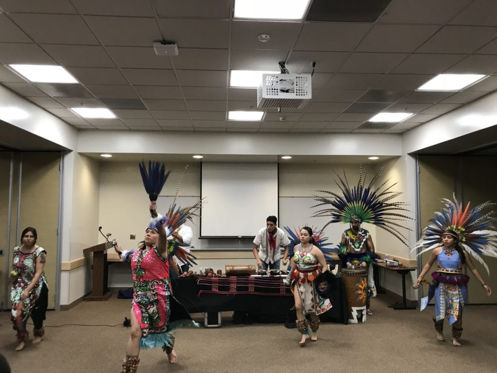Aztec dancers lead in traditional dance
