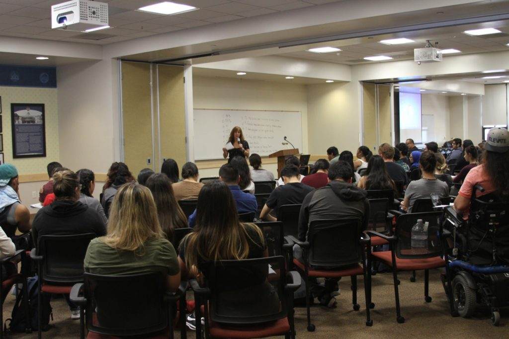 """Packed room for """"Intimate Partner Violence Prevention"""" seminar"""