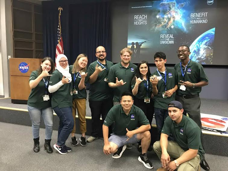 NCAS pose with NASA