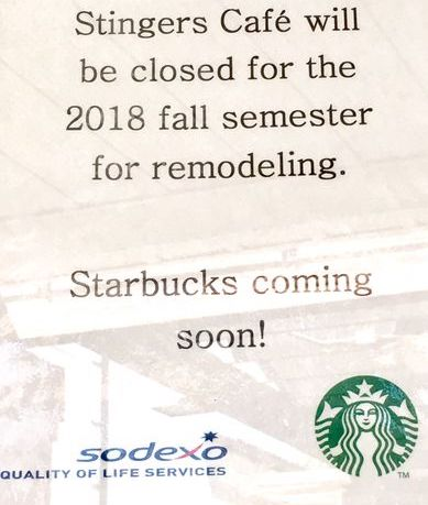 Stingers Cafe being renovated into a Starbucks – The Hornet