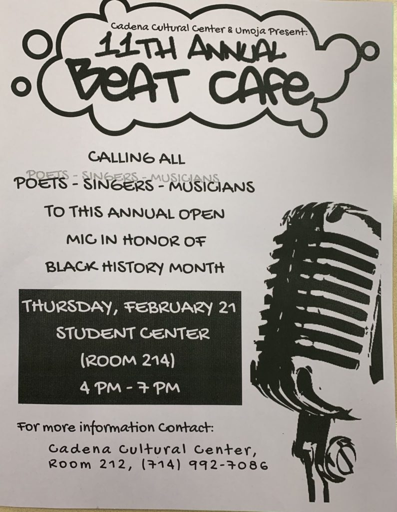 beat cafe open mic night