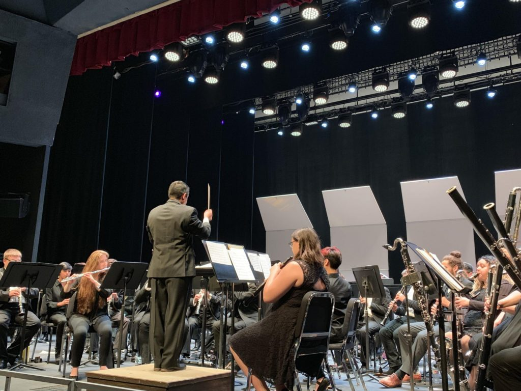 Symphonic Winds performing at their semi-anuaul spring concert.