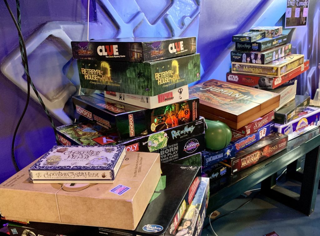 Board games available!