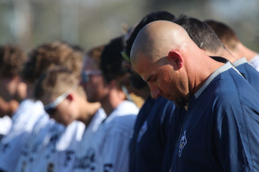 Moment of silence for Coach Altobelli