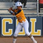 Khloe Lilavois puts up a strong at-bat against Golden West