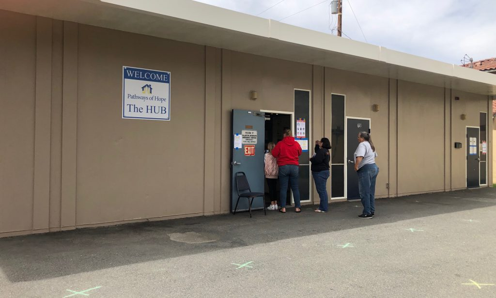Students who utilize the Fullerton College Food Bank are being redirected to Pathways of Hope The Hub.