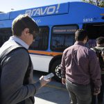 Students using bus passes