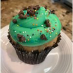 This minty chocolate chip funfetti cupcake exploded with flavors. It was one of the best.