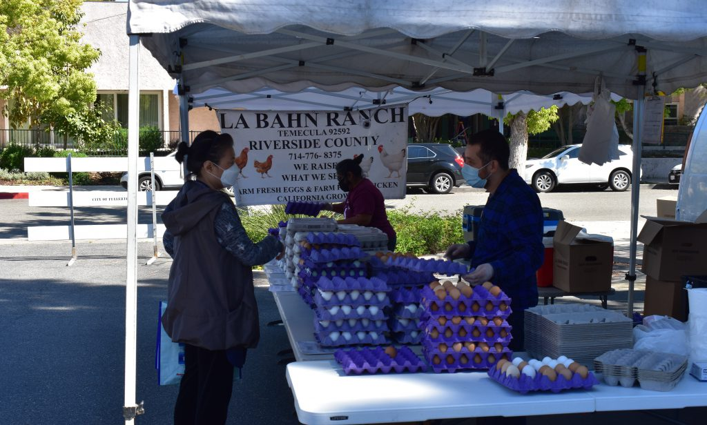 Fullerton Farmers Market offers more than just produce but eggs as well and walking distance for many new neighbors.