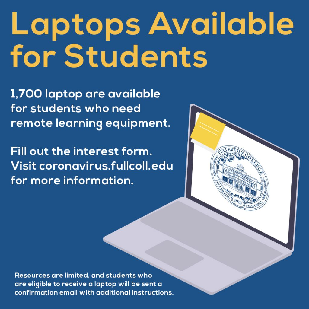 Laptops available for FC students