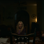 A shot inside Mari Gilbert's home with her two daughters. From left, Thomasin McKenzie, Amy Ryan, and Oona Laurence.