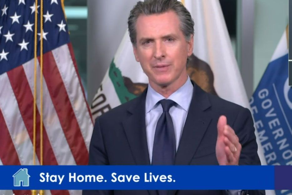 Newsom requests staying at home to stay safe