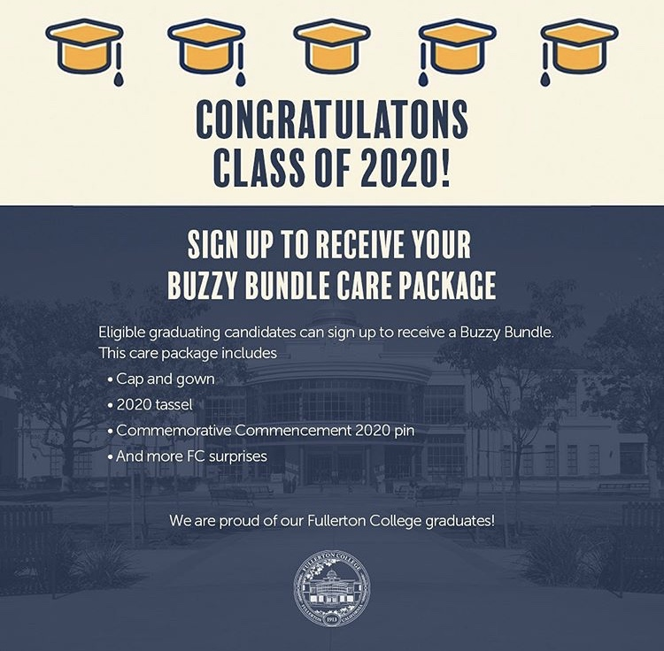Summer 2019, fall 2019, and spring 2020 graduates are eligible to receive the care package.