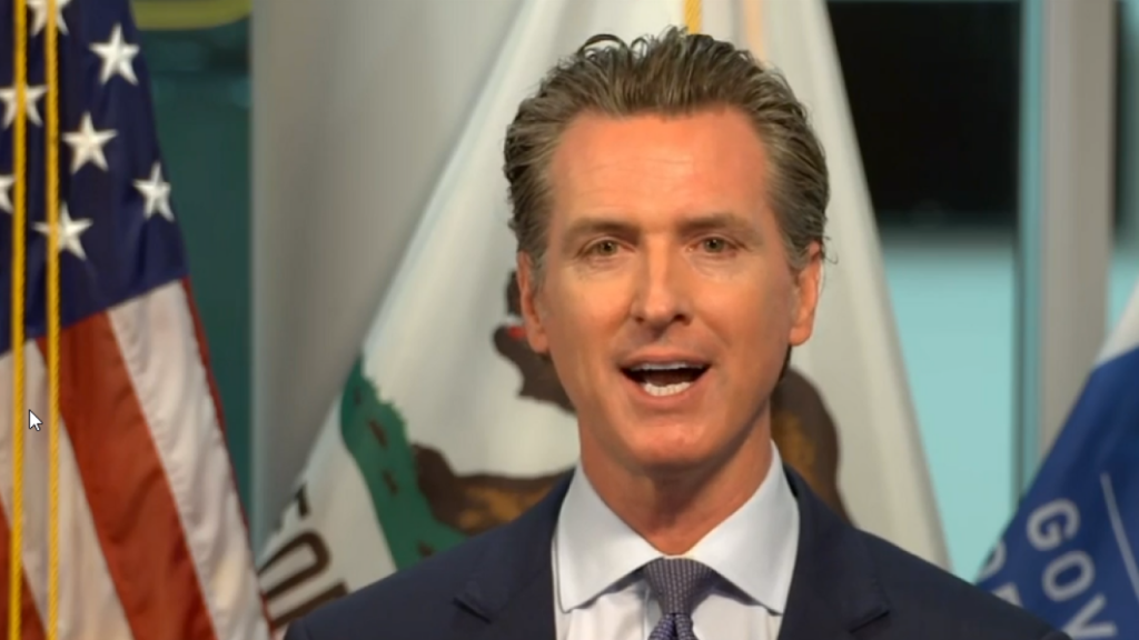 Governor Gavin Newsom covering COVID-19.