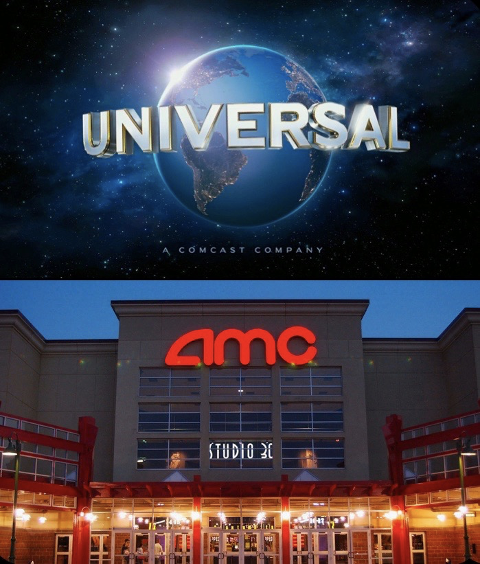 Universal and AMC dispute over the respect of releasing movies in theatres vs. on demand during this time.