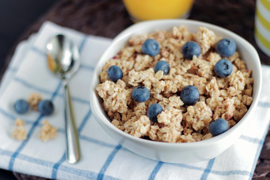 Oatmeal is a whole grain substitute for bread.