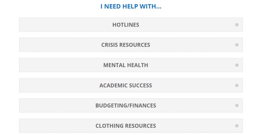 The COVID-19 Support Resources page provides a wide array of avenues to get aid.