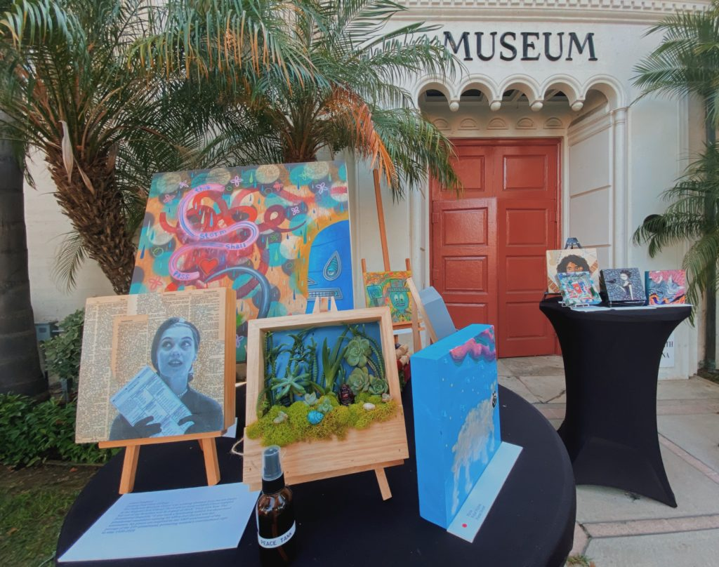 Art on display for members of the community to purchase.