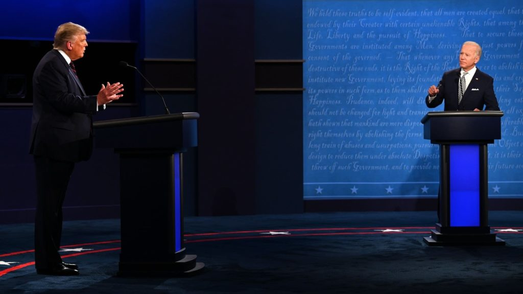 The first debate on Tuesday ended with no chance of either candidate talking about their policies.
