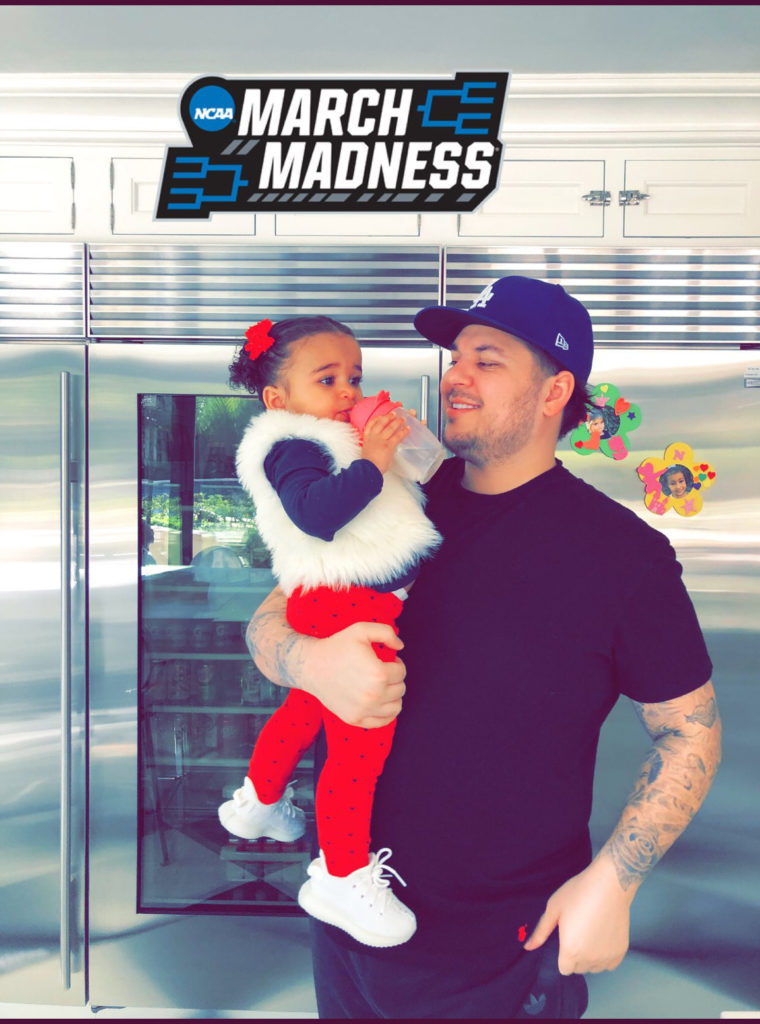 Rob Kardashian with his daughter Dream.