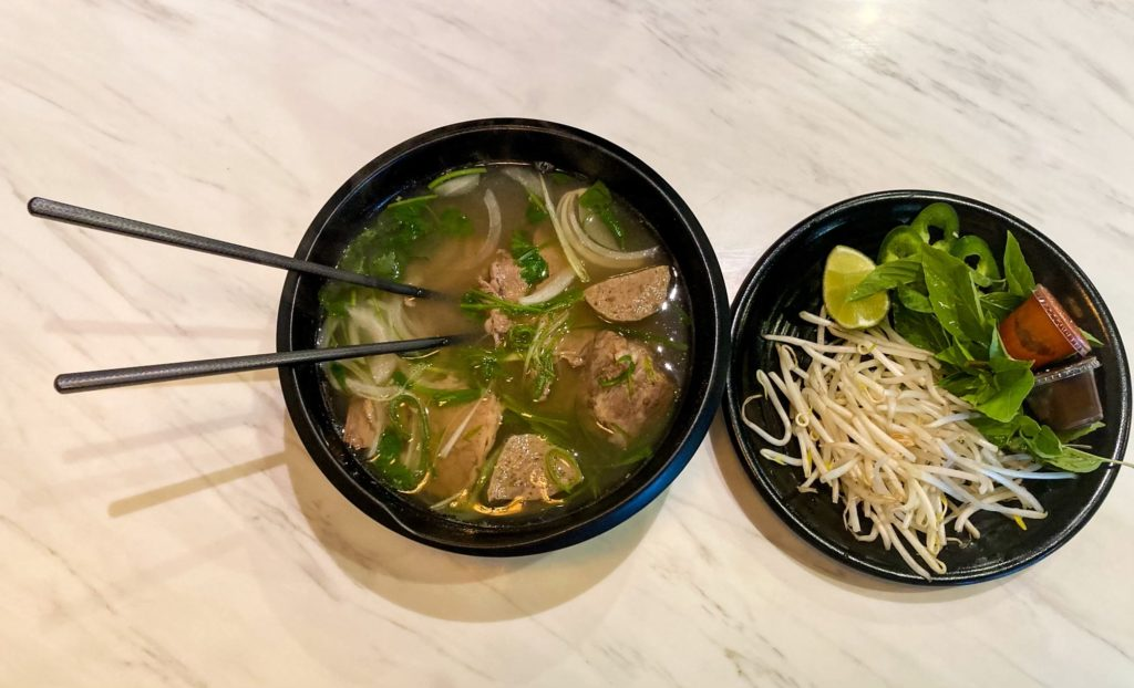 The Chef Special Beef Pho has prime brisket, meatballs, filet mignon and oxtail. Every bowl comes with a side of bean sprouts, basil, jalapenos and lime.