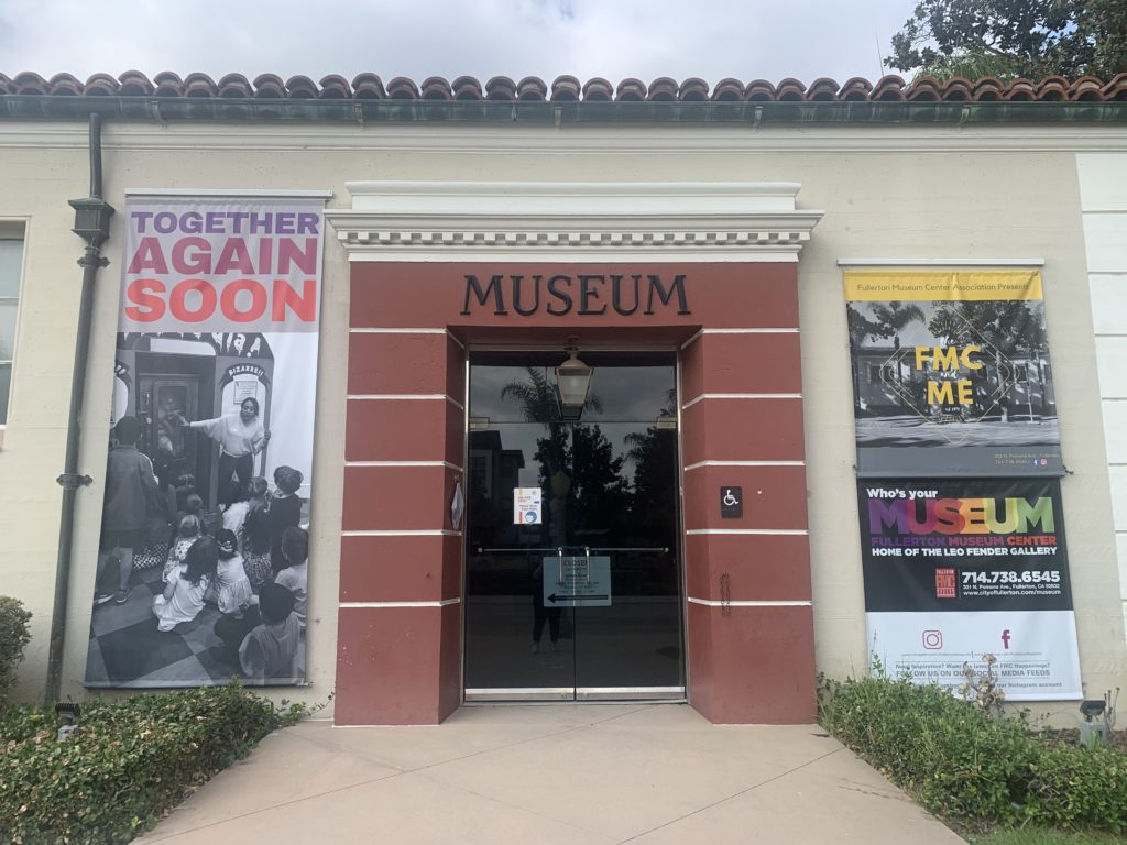 The front side view of the Fullerton Museum.
