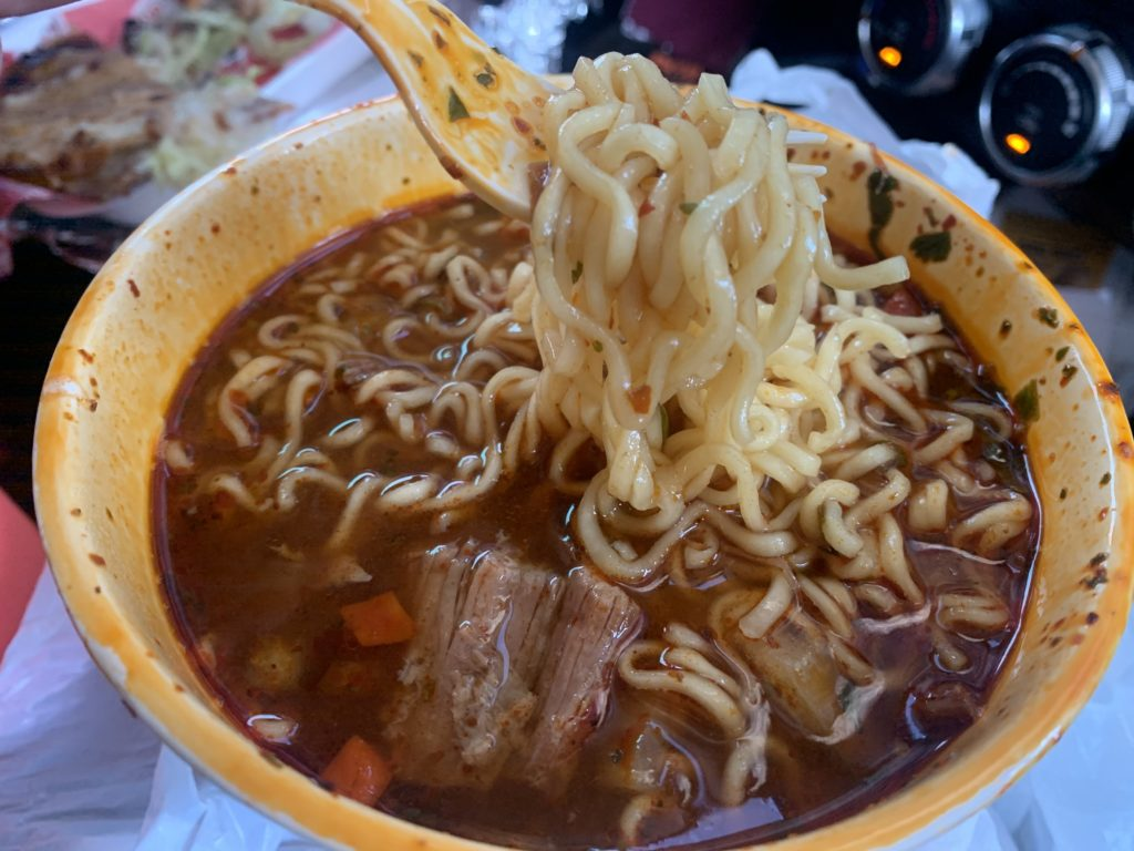 The immaculate flavors of the ramen and birria in the Birria Ramen Soup is striking.