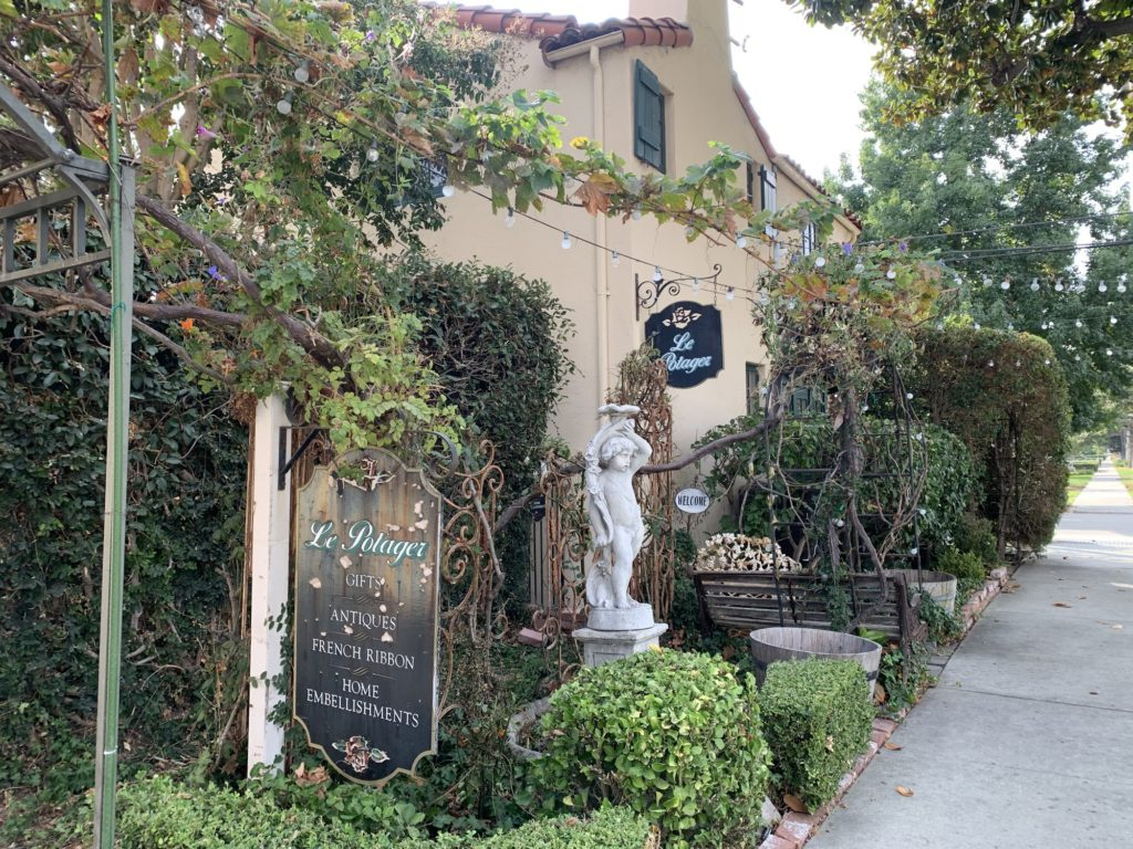 The former house of Lillian Yeager, Fullerton's first woman mechanic, that is now known as Le Potager.