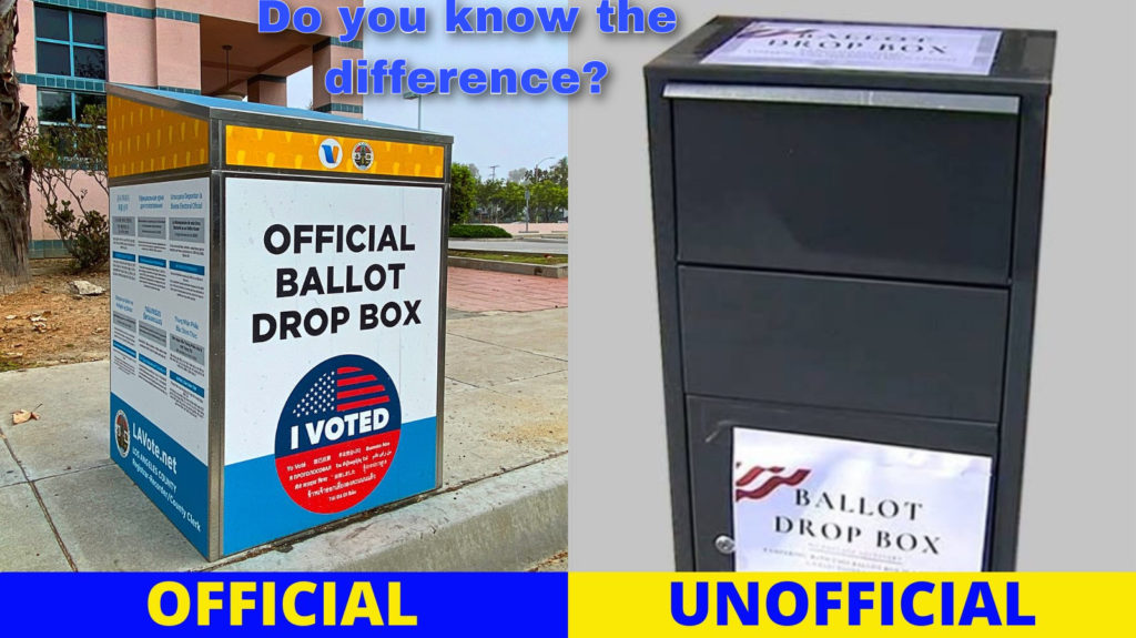 Distinguishing differences between official and unofficial ballot drop boxes. Get to learn the differences.