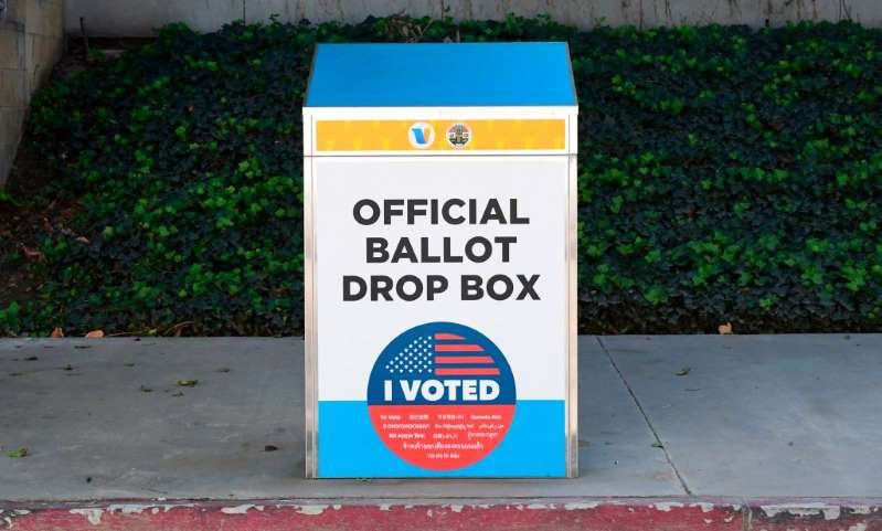 Image showing an official ballot drop box.