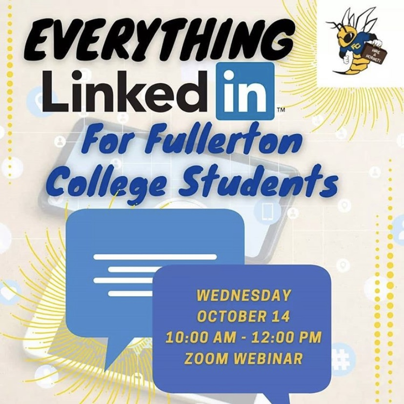 FC Career Center shared this graphic on Instagram to promote its webinar. They also gave times and registration instructions on the post.