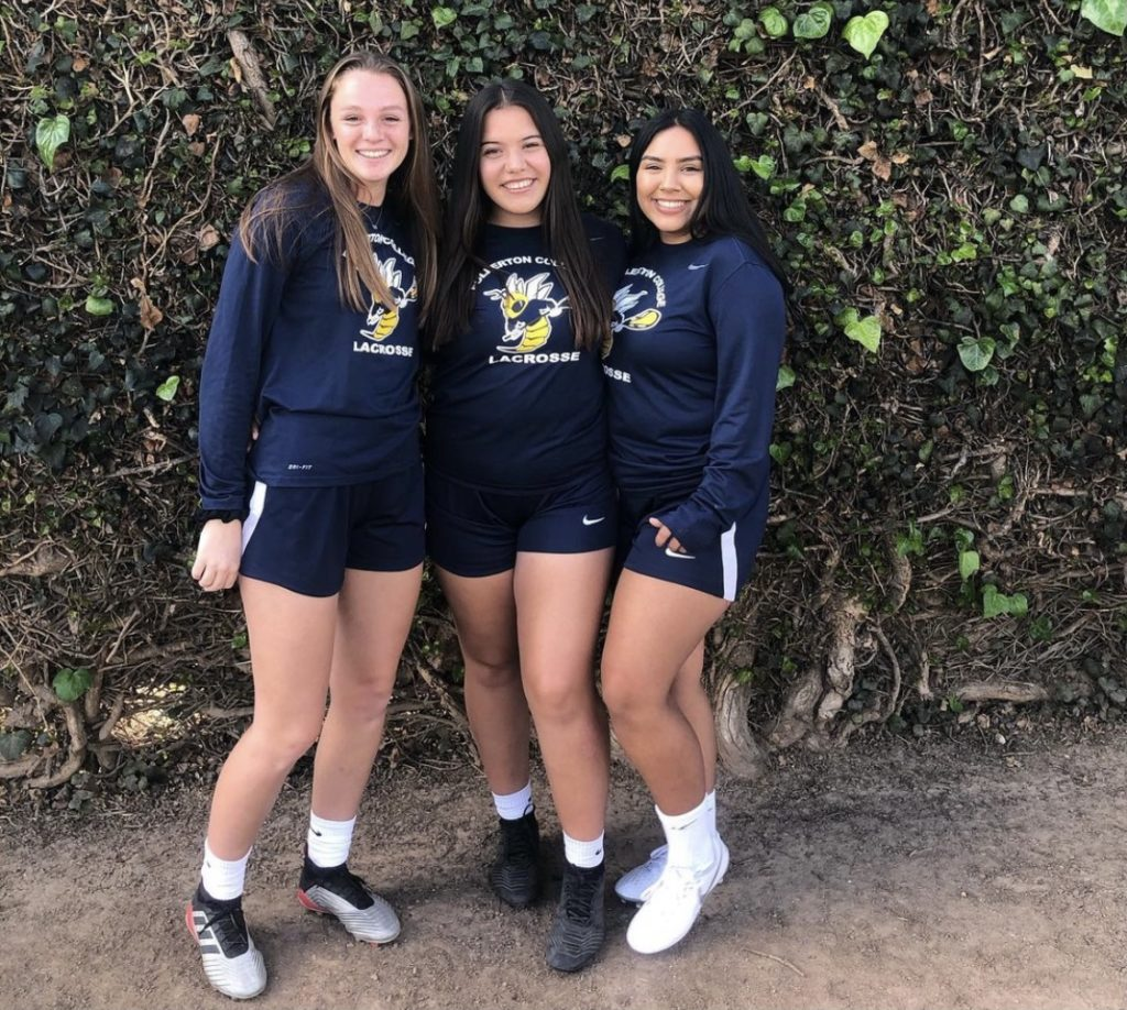 Alexa Orozco posing with some of her teammates in February of last spring.
