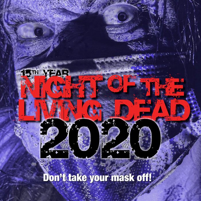 The main promotional image used for The Maverick's Night of the Living Dead.