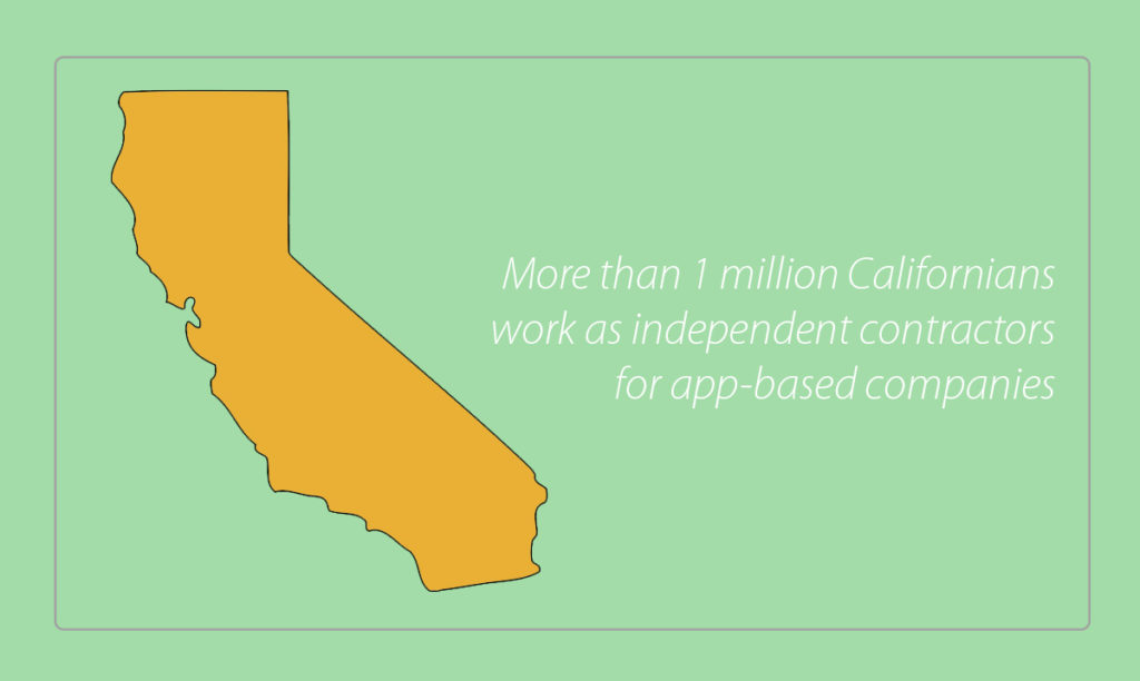 Many of app-based drivers are students, parents, and retirees who depend on the flexibility to work whenever they want.