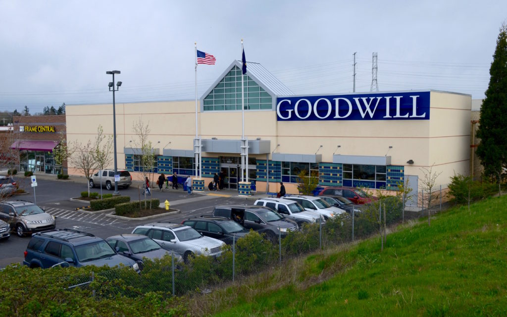 Goodwill store in northern Beaverton, Oregon, at Cornell Road and Bethany Blvd.
